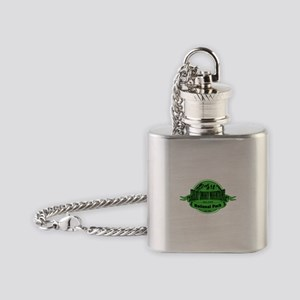 great smokey mountains 2 Flask Necklace