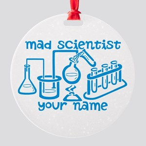 Personalized Mad Scientist Ornament