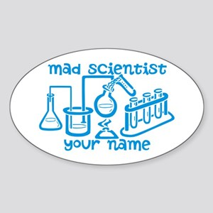 Personalized Mad Scientist Sticker
