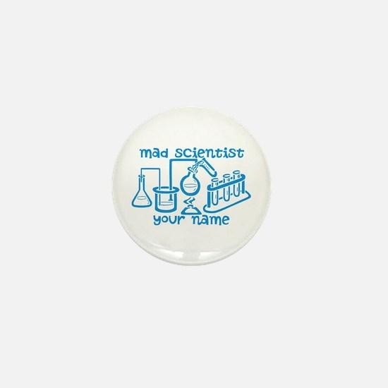 Personalized Mad Scientist Mini Button