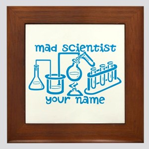 Personalized Mad Scientist Framed Tile