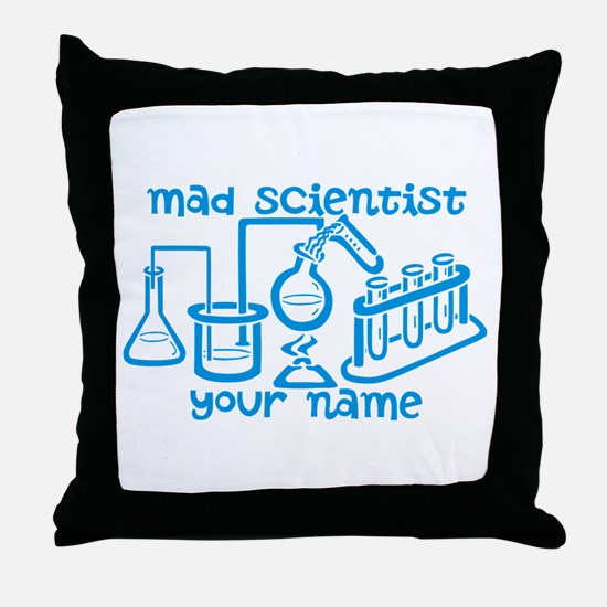 Personalized Mad Scientist Throw Pillow