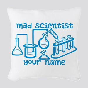 Personalized Mad Scientist Woven Throw Pillow