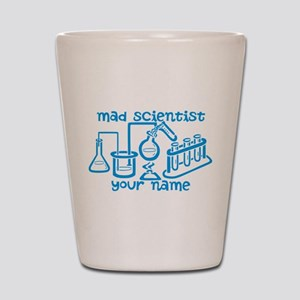 Personalized Mad Scientist Shot Glass