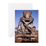Cement Mixer -Rearview - Greeting Cards (Pk of 10)