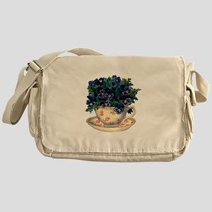 Teacup Flowers Messenger Bag