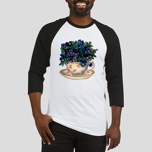 Teacup Flowers Baseball Jersey