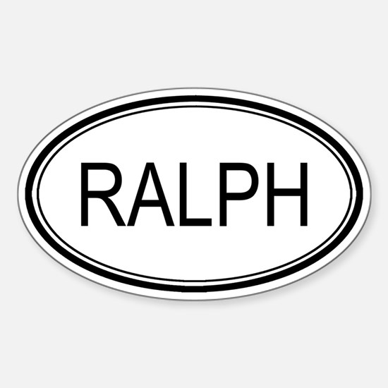 Ralph Oval Design Oval Decal