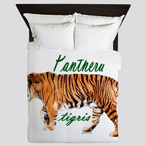 Walking tiger Queen Duvet