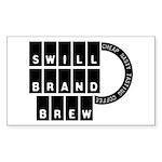 Swill Brand Rectangle Sticker