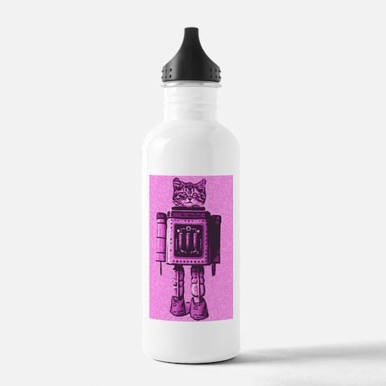 Robot Cat Water Bottle