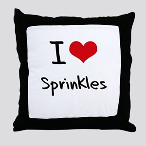 I love Sprinkles Throw Pillow