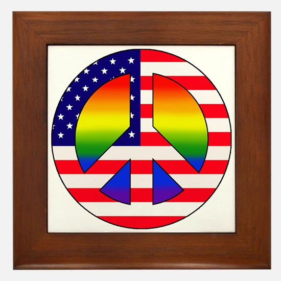 Gay Patriot Framed Tile