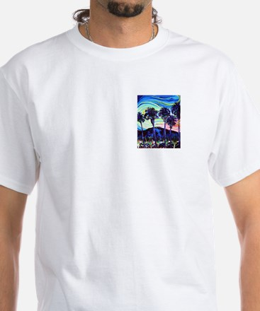 Palm Springs Night White T-Shirt