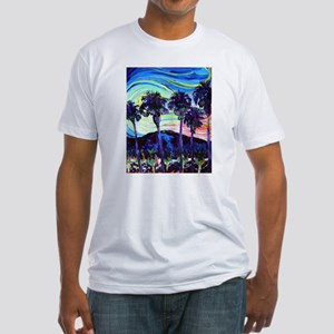 Palm Springs Night Fitted T-Shirt
