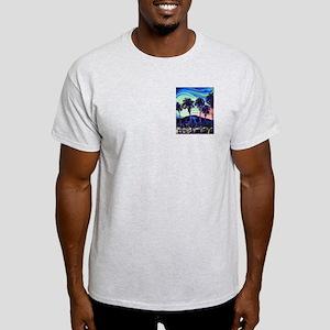 Palm Springs Night Ash Grey T-Shirt