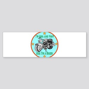Biker Dude Bumper Sticker