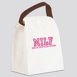 MILF Workout Shirt Canvas Lunch Bag