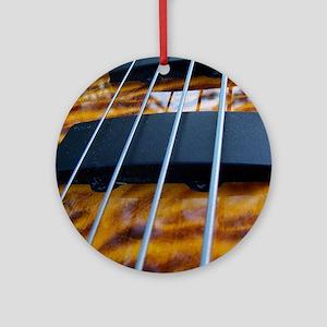 Four String Tiger Eye bass Ornament (Round)