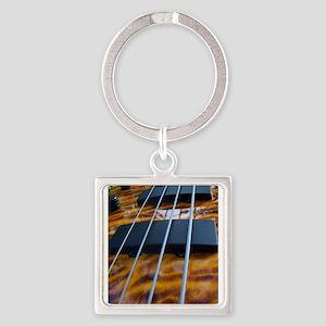 Four String Tiger Eye bass Keychains