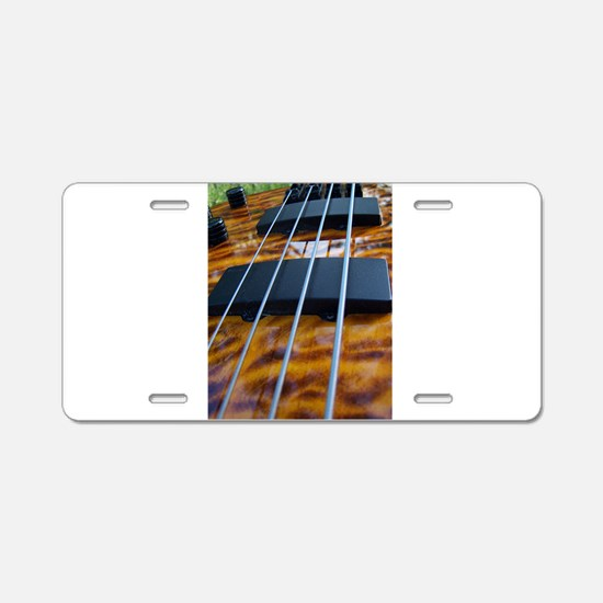 Four String Tiger Eye bass Aluminum License Plate