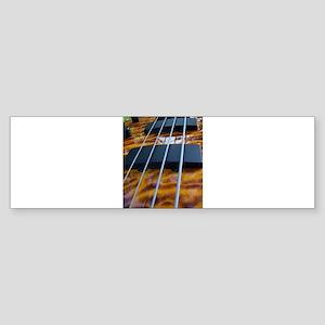Four String Tiger Eye bass Bumper Sticker