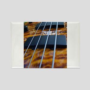 Four String Tiger Eye bass Rectangle Magnet
