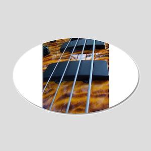 Four String Tiger Eye bass Wall Decal
