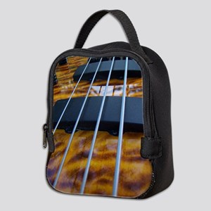 Four String Tiger Eye bass Neoprene Lunch Bag