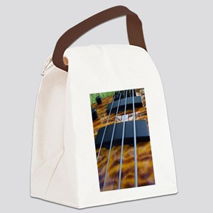 Four String Tiger Eye bass Canvas Lunch Bag