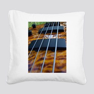 Four String Tiger Eye bass Square Canvas Pillow