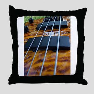 Four String Tiger Eye bass Throw Pillow