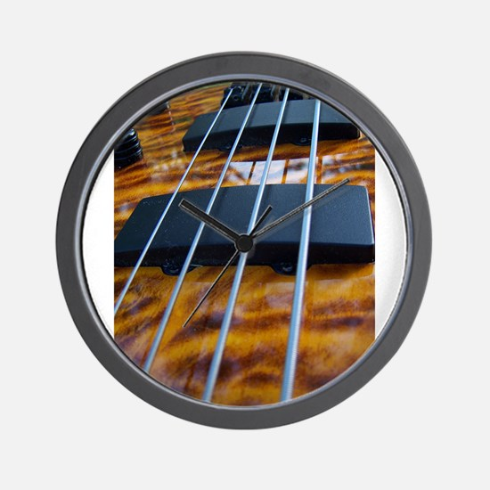 Four String Tiger Eye bass Wall Clock