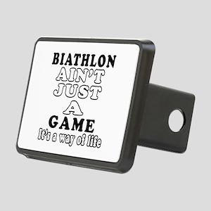 Biathlon ain't just a game Rectangular Hitch Cover