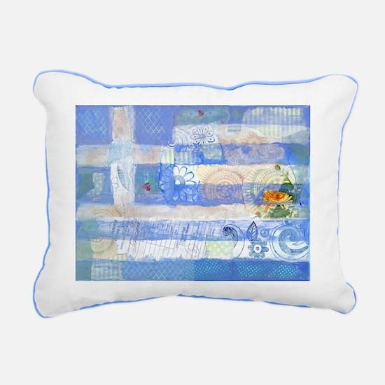 Greek Flag Rectangular Canvas Pillow