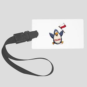 Poland Penguin Luggage Tag