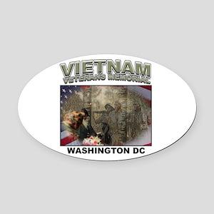 Vietnam Veterans' Memorial Oval Car Magnet