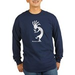 Kokopelli Martini Drinker Long Sleeve Dark T-Shirt
