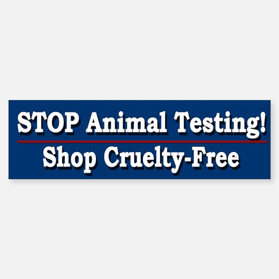 STOP Animal Testing - Bumper Bumper Bumper Sticker