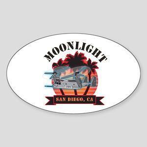 Moonlight V-22 Sticker (Oval)