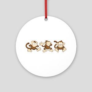 No Evil Monkey Ornament (Round)