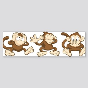 No Evil Monkey Bumper Sticker