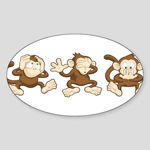 No Evil Monkey Sticker