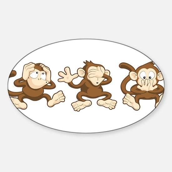 No Evil Monkey Decal