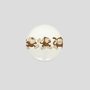 No Evil Monkey Mini Button