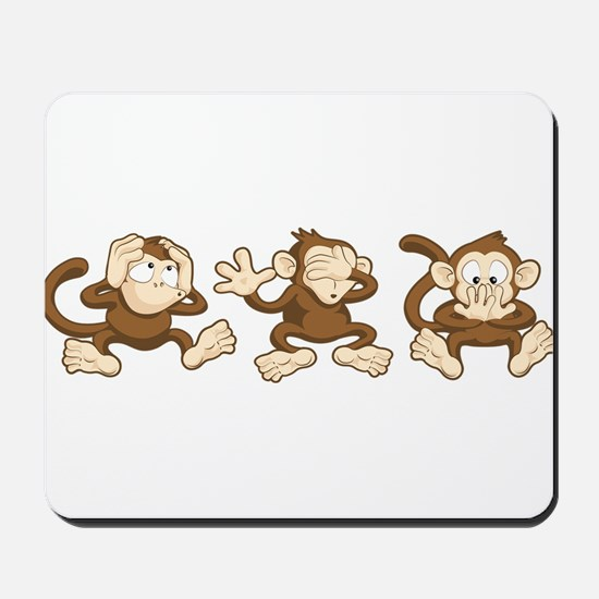 No Evil Monkey Mousepad