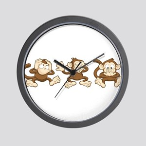 No Evil Monkey Wall Clock