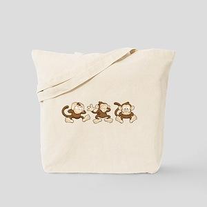 No Evil Monkey Tote Bag
