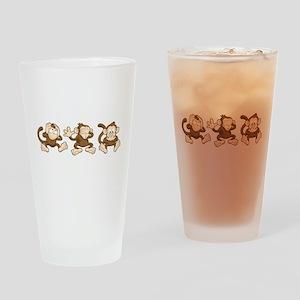No Evil Monkey Drinking Glass