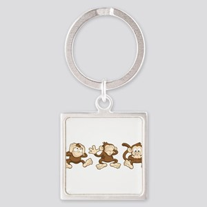 No Evil Monkey Keychains